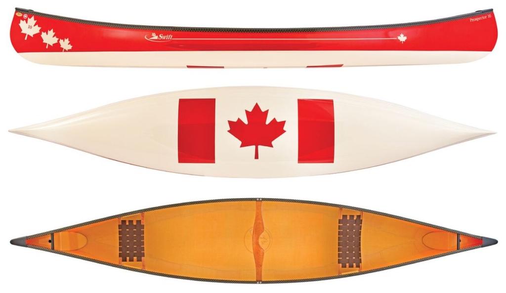 Canada Themed Swift Canoe